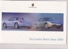 PORSCHE range brochure - London Motor Show 1999 - mint