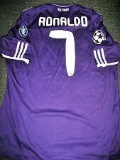Authentic Real Madrid Ronaldo 2010 2011 Purple UEFA Jersey Camiseta Shirt XL