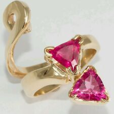 Pink Tourmaline Ring Enhancer 14k Yellow Gold. 3.50 CTW Custom Made
