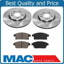 Front Brake Disc Rotor Rotors Ceramic Brake Pads Set For 12-16 Verano 11-15 VOLT