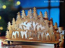 LED SCHWIBBOGEN Sternenglanz Weihnachts Deko Beleuchtung Tisch Fenster Holz