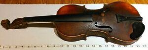 Vintage Violin, 1675 Antonius Hieronimus Amati Label, for Luthier Repair Project