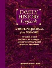 FAMILY HISTORY LOGBOOK By Reinhard Klein New