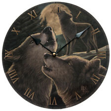 NEW ROUND WALL PICTURE CLOCK LISA PARKER WOLF SONG WOLVES 30cm CKP93