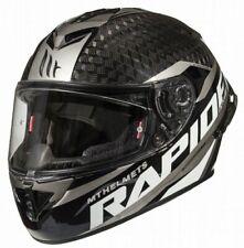 MT Rapide Pro Carbon Fibre Full Face Motorcycle Crash Helmet black / white