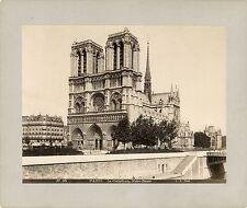 Paris, Notre Dame/Versailles, Voiture du Sacre de Napoléon I - Two 1880's Photos