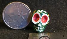 Painted Skull Green 1:12 Mexican Style Day of the Dead Altar Ofrenda 4473