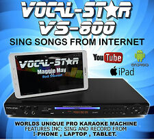 VOCAL-STAR VS-800 CDG CD+G DVD KARAOKE MACHINE PLAYER 2 MICROPHONES & 150 SONGS