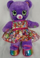 Limited Edition Shopkins Build A Bear Purple Green Eyes BAB Dress/Shoes MINT