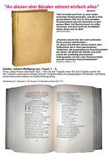 Goethe Faust. 1  - 3 Ernst Ludwig Presse Darmstadt 1922 1924 Handeinband 1/400