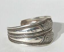 Armreif Silber geprüft Mexiko ? 28,6 Gramm D. 6 cm