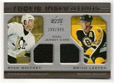 Ryan Whitney & Leetch 05-06 Upper Deck Rookie Inspirations Dual Jersey /999