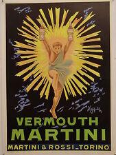 VERMOUTH MARTINI & ROSSI TORINO illustr. CAPPIELLO manifesto TELATO originale