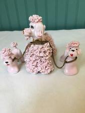 LEFTON KB80204 PINK SPAGHETTI POODLE + 2 PUPS CHAINED