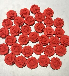 20 ROSES EDIBLE CUPCAKE TOPPER WEDDING, ENGAGEMENT, BIRTHDAY PARTY CAKE