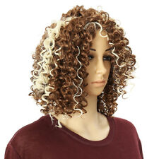 Synthetic Soft Afro Curly Wig Mix Blonde Wigs for Women African American Hair CA
