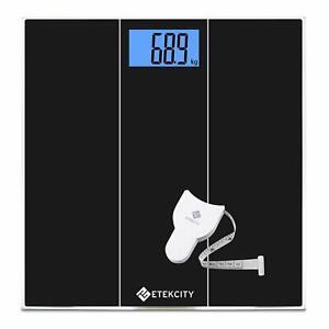 Pèse Personne Electronique de Précision, 180kg, Verre Trempée, Grand Ecran LCD