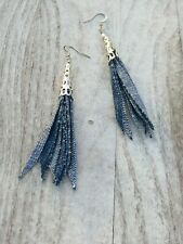 Bohemia tassel earrings, tassel denim earring, girls earrings, mom, made in USA