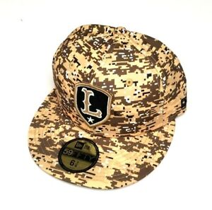 New Era Lowell Spinners MiLB 5950 Military Theme Night Fit Hat Camo SZ 6 7/8, 7