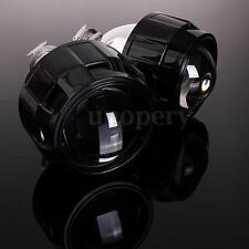 "2x Black 2.5"" HID Bi-xenon Projector lens Kit Headlight Bulb Shroud H1 H4 H7 RHD"