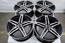 "18"" Wheels Fit Nissan Altima Audi TT Accord Civic CRV Is350 Black Rims 5 Lugs"