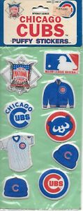 Vintage 1980's MLB Puffy Stickers Baseball NL Chicago Cubs Official License