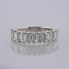 1.92 Carat Baguette Cut Diamond Half Eternity Ring 18ct White Gold