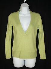 Ann Taylor Loft Green Vneck Rayon Angora Blend Sweater sz S