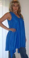 blue cami top vest twinset 2 n 1 jersey M L XL 1X zo701