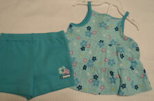 CARTERS Baby Girls 6 Month Shorts Sleeveless cotton Shirt Set Outfit NWT