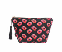 LADIES PERFECT POPPY LARGE MAKE UP BAG TOILETRY BAG  COSMETIC BAG GREAT GIFT IDE