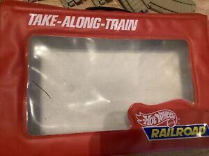 vintage hot wheels train/railroad take along play set 1983