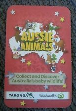Woolworths / Woolies Aussie Animals collecting/trading cards ... red