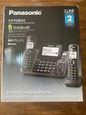 Panasonic 2-Line Cordless Phone with 2 Handsets & Answering Machine - KX-TG9542B