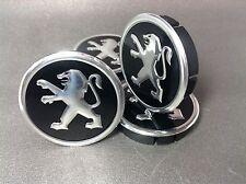 PEUGEOT Cache Moyeux Centres de Roue Alu Emblem 4p x 60mm/55mm  *NEUF*