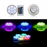 LED submersible Multi Color Waterproof Wedding Party Vase Base Light + Remote