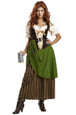 TAVERN MAIDEN BEER MEDIEVAL RENAISSANCE HALLOWEEN COSTUME WOMEN SIZE MEDIUM