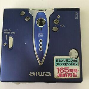 Aiwa AM-HX400 MiniDisc digital audio system, Blue! For Parts or Repair