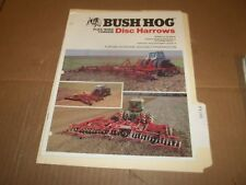 PY103) Bush Hog Sales Brochure 12 Pages - Flex-Wing Tandem Disc Harrows