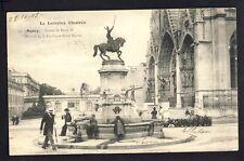 cpa de 1903 NANCY Statue de René II PORTAIL de la BASILIQUE St EPVRE Fleuriste