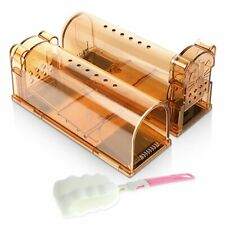 New listing 2 Pcs Humane Mouse Trap No Kill Mice Rodent Catch Cage Pet Child Safe Reusable
