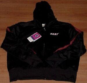 Miami Heat Full Zip Glam Hoodie Ladies Juniors Black Reebok NBA Womens BLOW OUT