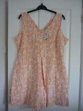 Fabulous NEXT Peach Ivory Floral Jacquard Jersey Dress. UK 22 EUR 50 US 18. BN