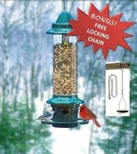 BROME SQUIRREL BUSTER PLUS 1024 SQUIRREL PROOF BIRD FEEDER + FREE LOCKING CHAIN