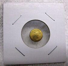 Good Luck Wedding Token ~ St Gaudens Mini Double Eagle Reeded Gold Tone Coin