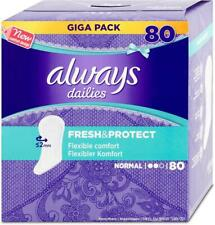 Always Dailies Panty Liners Fresh & Protect, Normal, Odour Neutralising Pads 80