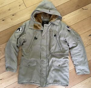 Men's Alpha Industries Extreme Cold Parka Artic Explorer Coat Size Small