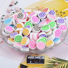 15mm Flatback Polymer Clay Round Swirl Candy Cabochons DIY Decors 40 pcs Mixed