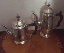 Eales 1779 Staffordshire Hand Chased Set - Coffee Pot And Tea Pot EPNS