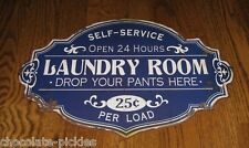 BIG LAUNDRY ROOM Wall SIGN*Primitive/French Country Farmhouse Decor*Navy Blue